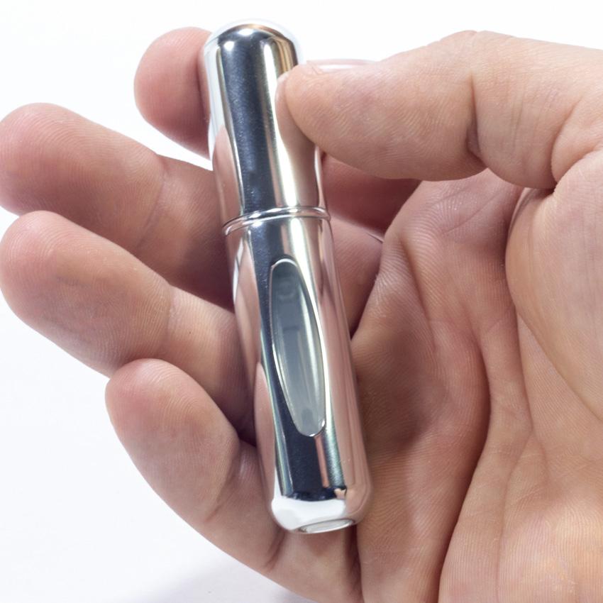 Мини флакон для духов портативный - BLP-5 мл Silver