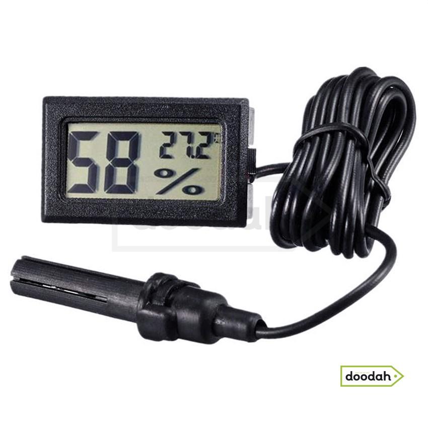 Датчик влажности и температуры CARPRIE WSD-10c Black с кабелем. Гарантия 6 мес.