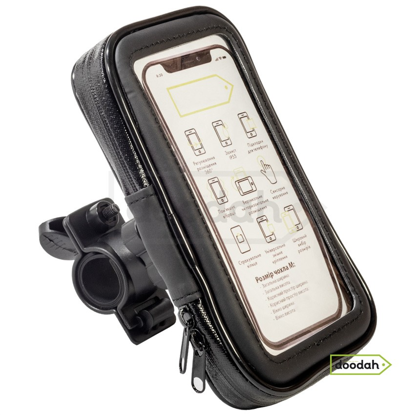 Держатель (холдер) мото для телефона водонепроницаемый - Evolou Fix IP55 - M
