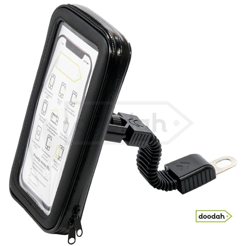 Держатель (холдер) мото для телефона водонепроницаемый - Evolou Flex IP55 - XL