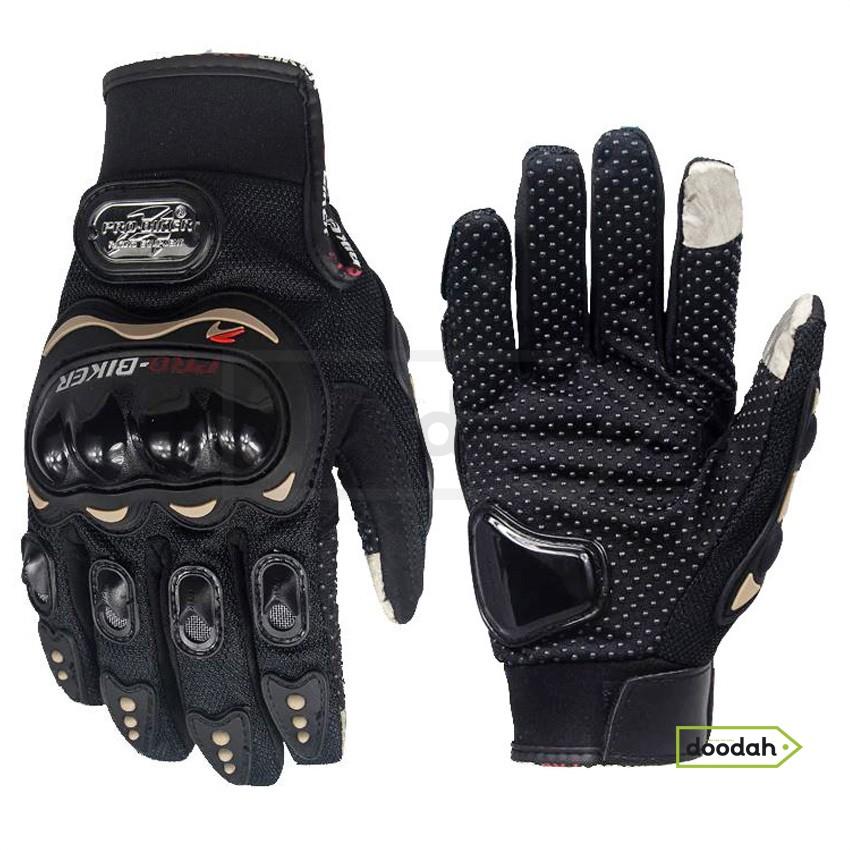 Мото рукавички сенсорні - Pro Biker MCS-01C Black - L