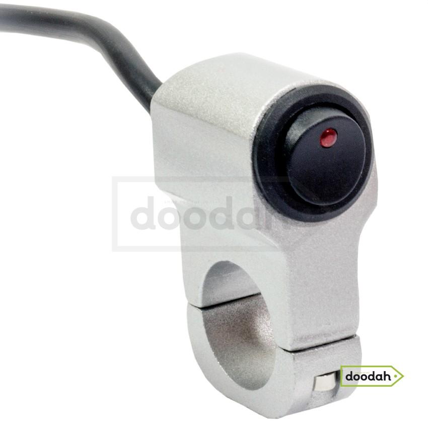 Мото кнопка на руль с влагозащитой - VGEBY Spot Silver