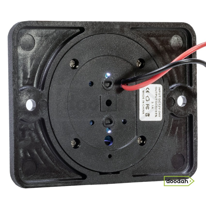 Авто / Мото USB зарядний пристрій Passenger 3 Red, IP 54, 2.1A. Гарантія 6 міс.