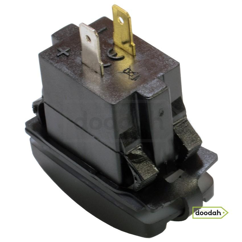 Авто / Мото USB зарядний пристрій Recessed ATV Blue, IP68, 2,1А. Гарантія 6 міс.