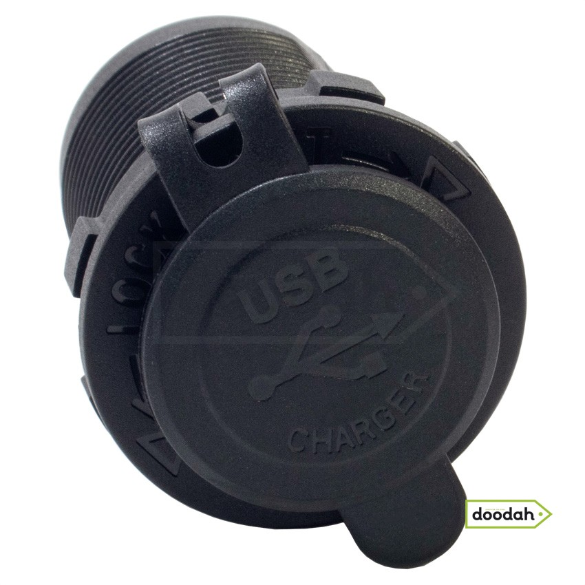 Авто / Мото USB порт прикуривателя - Recessed Built - зарядний пристрій з адаптером. Гарантія 6 міс.