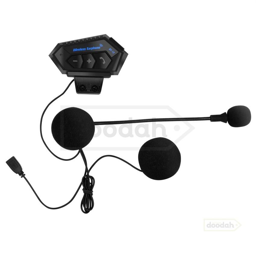 Мотогарнітура Bluetooth BT12 - Hands-Free / Stereo / 500mAh / IP67. Гарантія 6 міс.