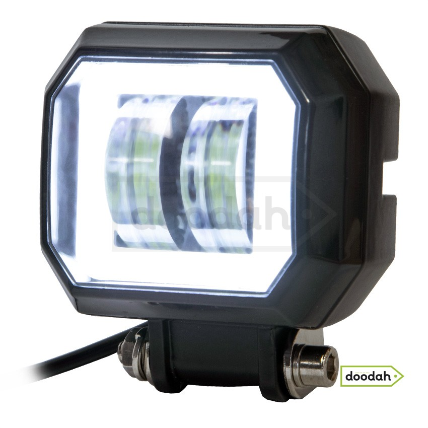 Мото фара Ladiami SQ 20W - White, IP68 (допоміжне світло). Гарантія 6 міс.