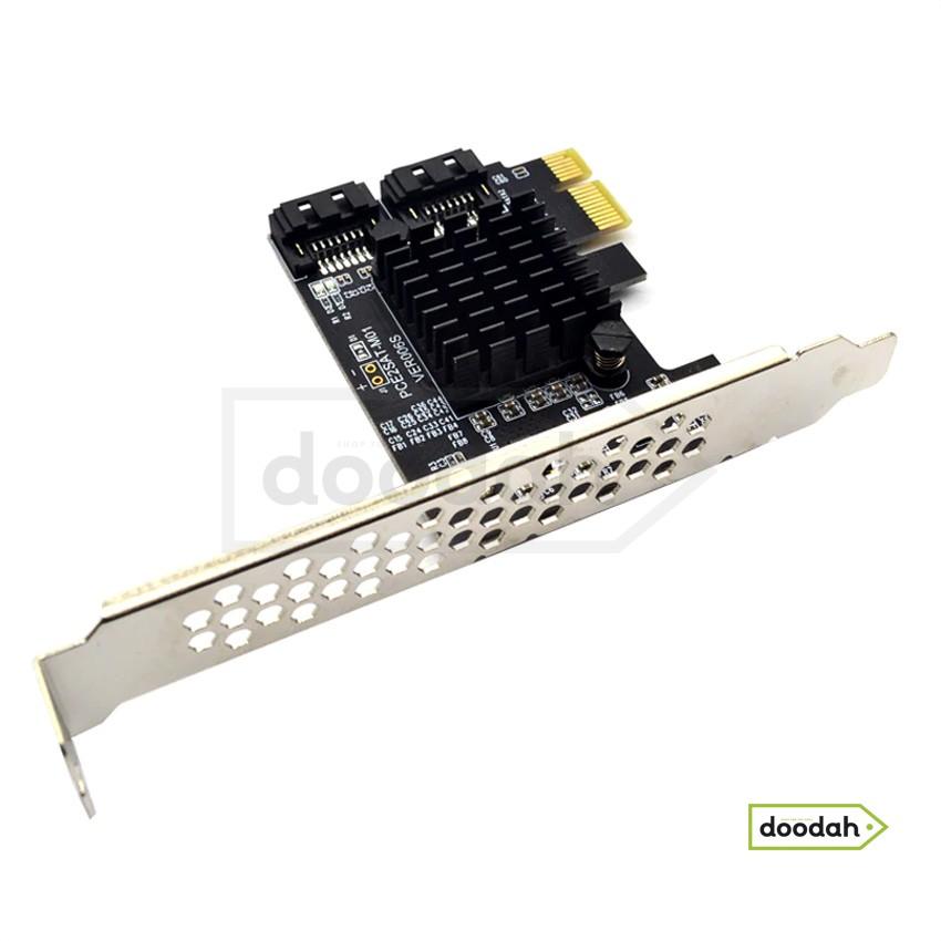 Адаптер SATA III (6 Гбіт / с) PCI-E (для підключення додаткових hdd / ssd) - PCE2SAT-M01 VER006S.