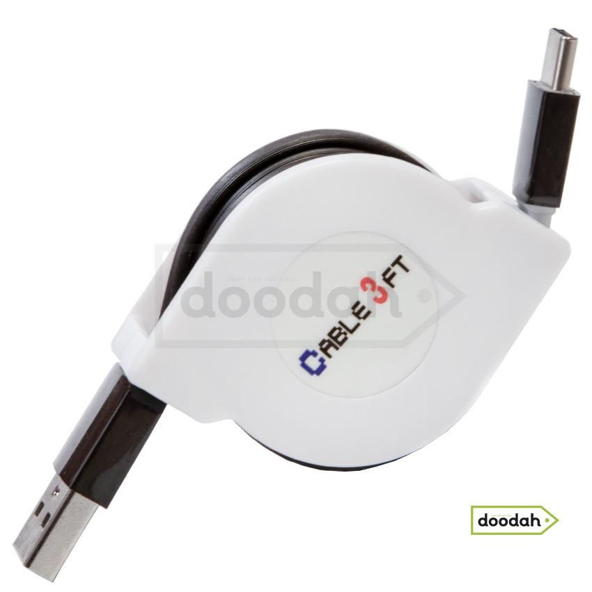 Дата кабель рулетка USB - Type C, 1 м, Tolus 3FT