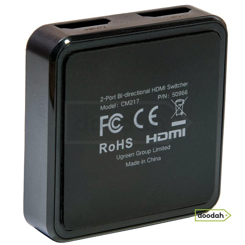"""Сплиттер """"переключатель двунаправленный"""" HDMI, 4К, 60Hz, 1x2 / 2x1 - Ugreen CM217. Гарантия 6 мес."""