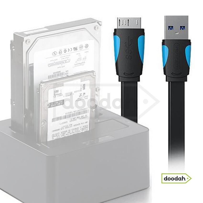 Кабель для HDD / SSD кармана USB 3.0 на Micro-B - Vention 2 m Black