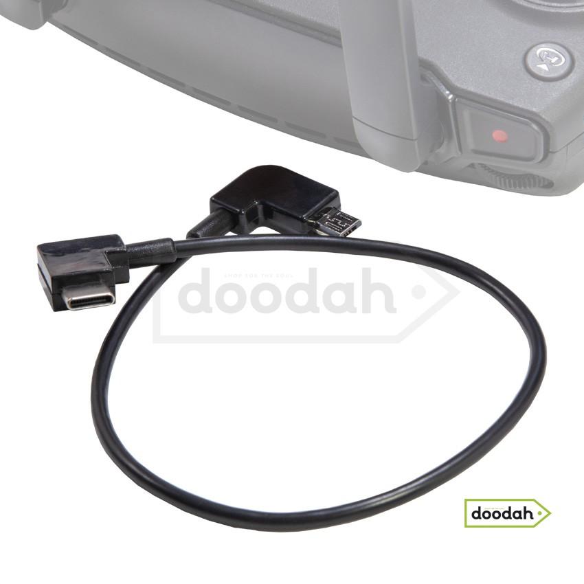 Кабель передачі даних OTG Micro USB - Type C для пульта DJI Spark, AIR, Mavic, Mini, Pro Zoom, Hubson, Zino