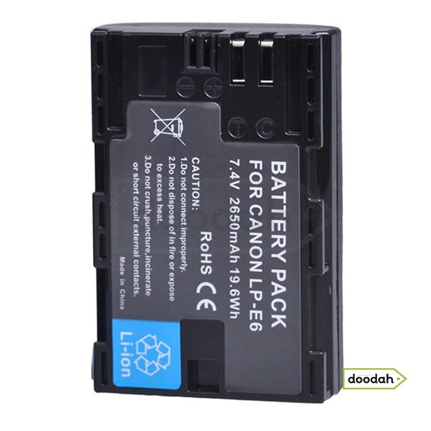Батарея (Аккумулятор) Li-ion LP-E6 2650 мАч 7,4 В для Canon