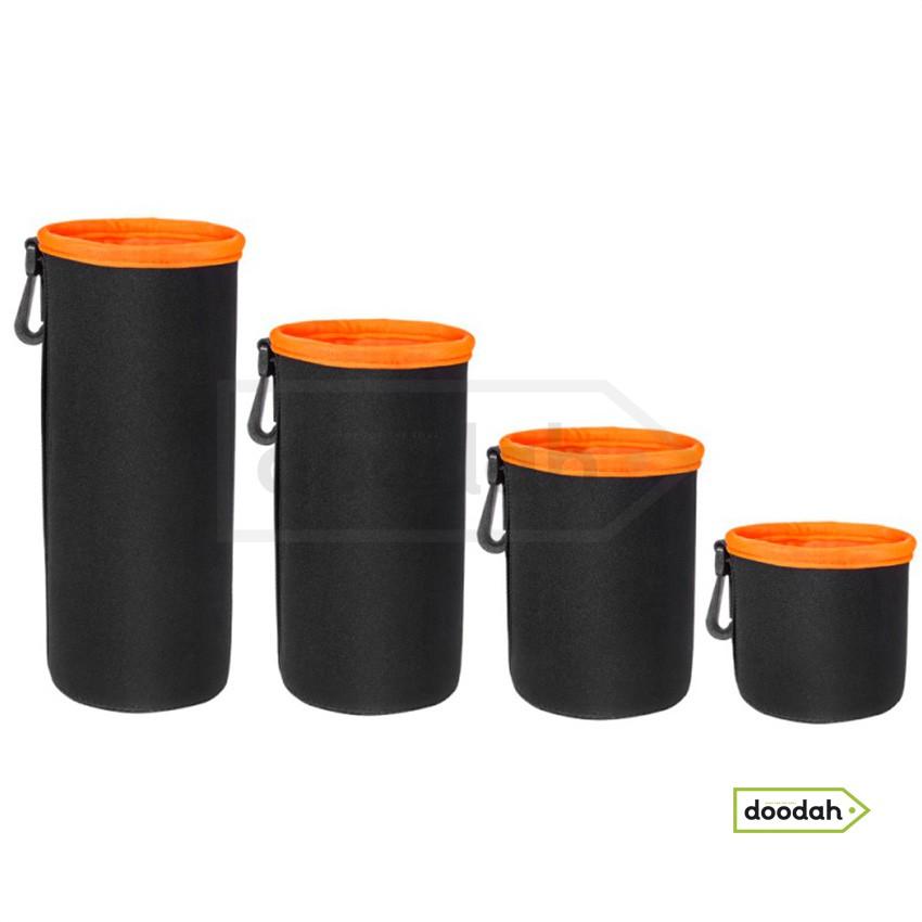 Чохол для об'ектива - Photolife Orange PR - L: 100 мм x 170 мм (на затяжці та карабіні)
