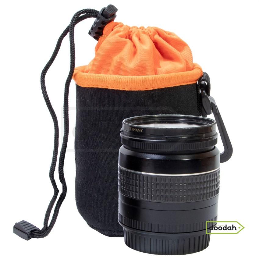 Чохол для об'ектива - Photolife Orange PR S: 70 мм x 100 мм (на затяжці та карабіні)
