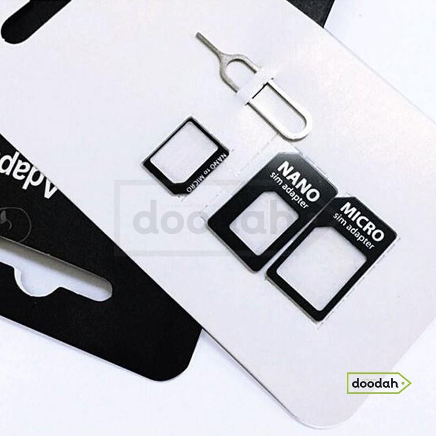 Адаптер переходник для Sim-карты (Nano, Micro Sim + скрепка) 3в1 - CARPRIE